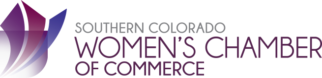 The Southern Colorado Women's Chamber of Commerce, SCWCC, logo
